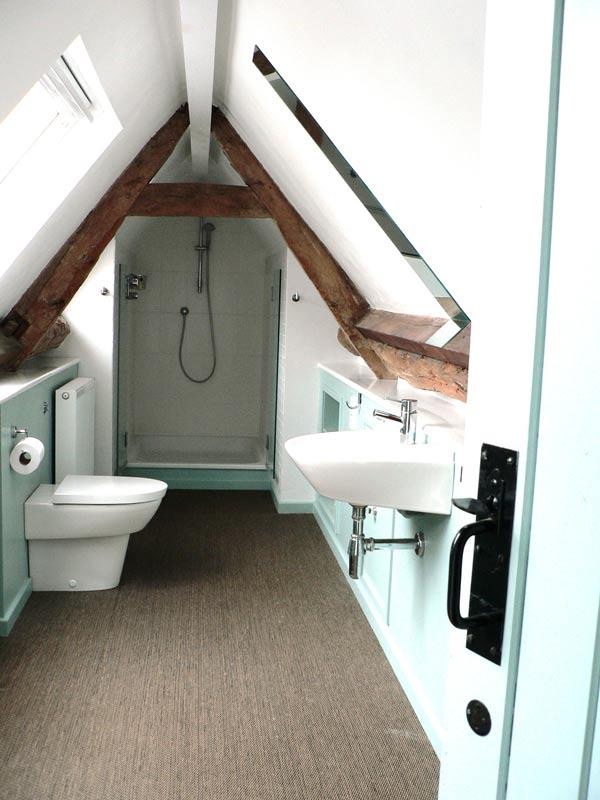 Loft space bathroom